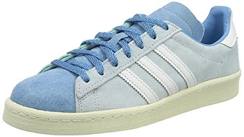 adidas Campus 80s W, Scarpe da Ginnastica Donna, Halo Blue/Ftwr White/Hazy Blue, 39 1/3 EU