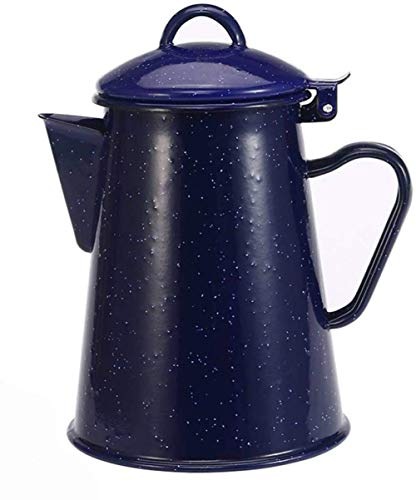 Coffee Pots,Enamel Kettle for Gas Hob Coffee Pot, Teapot with Handle/Super-Stable Wide Base Suitable for Family Dinner, Afternoon Tea,-800ml