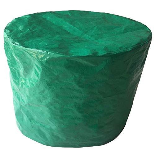 YANZHEN Housse Protection Salon De Jardin PE Anti-poussière De Jardin Extérieur Imperméable Tissant PEVA + Polyester Durables De Table Ronde, Taille 3 (Couleur : Green, Taille : 200x90cm)