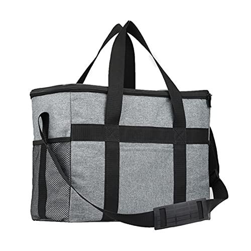 N \C Bolsa de picnic portátil resistente al agua gruesa con correa para el hombro de gran capacidad y resistente al agua, se puede reutilizar