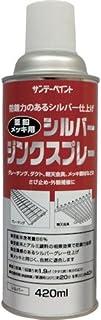 サンデーペイント 亜鉛メッキ用シルバージンクスプレー 420ml シルバー