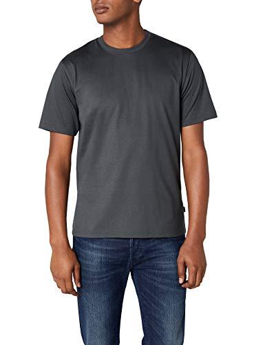 Trigema Herren T-Shirt aus Baumwolle 637202, Anthrazit, L