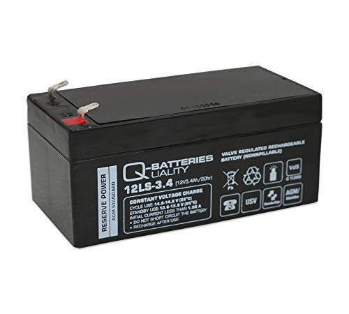 Q-Batteries 12LS-3.4 AGM Batterie 12V 3,4Ah wartungsfrei