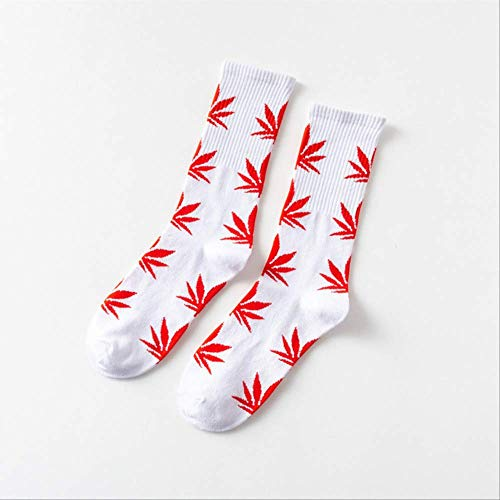 XWASOCK 5 par/Lote Chaussette Style Weed Calcetines Mujeres Hombres Algodón Invierno Hip Hop Calcetines Compresión Hombres Calcetines EUR 41-46 K