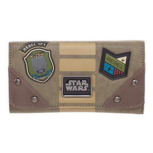 Bioworld Rogue One: A Star Wars Story Rebel Patches Flap Brieftasche