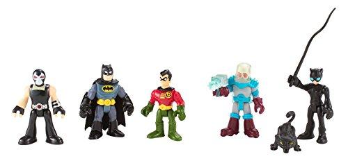 Imaginext DC super Friends - Batman Heroes & Villains pack avec Batman Robin Catwoman Mr. Freeze et Bane