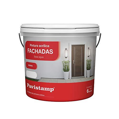 Pintura Interior Exterior blanca 6 KG Acrilica Plastica/Antihumedad/Antimoho/Fachadas, paredes, suelos y madera alta gama en colores para...