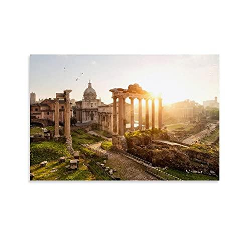 Mymelo Forum rzymskie plakat dekoracyjny obraz płótno sztuka ścienna salon plakaty sypialnia obraz 16 x 24 cale (40 x 60 cm)