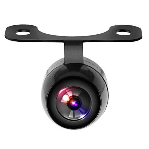 YUNTX Caméra de recul pour voiture - Caméra de recul universelle à 170 degrés - Étanche - 16,5 mm - Noir