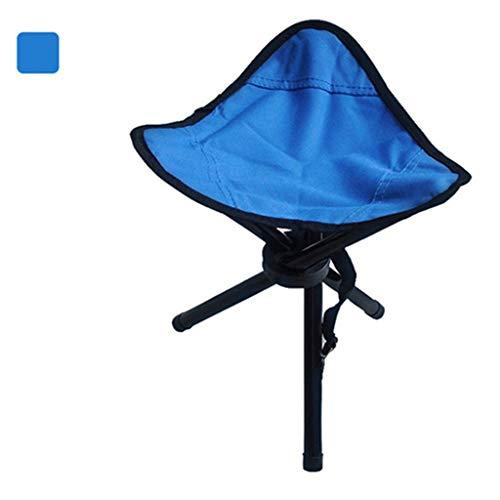 KKCD Campingstuhl Mini Klappstuhl/Dreibeinigen Hocker Tragbare/Leichte Strand Stuhl Angeln Hocker Outdoor Park Bank Hocker Zug Für Camping (Farbe : Blau)