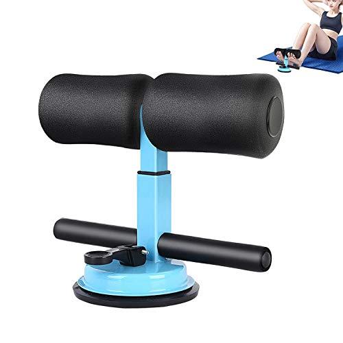 腹筋マシーン 腹筋トレーニング 筋トレ トレーニング 腹筋器具 エクササイズ トレーニング 腹筋マシン 足固定 高さ調整 折りたたみ 省スペース 男女兼用 (青)