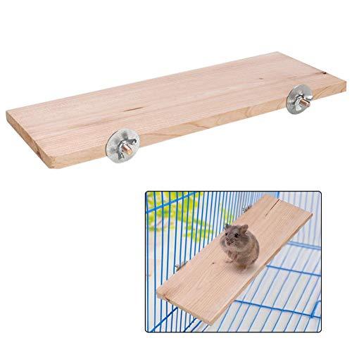 Hamster Platform Rectángulo Plataforma de Soporte de Madera Natural Pet Pedal Board Cage Chew Toy Pequeños Animales Hábitat Decoración para ratón Chinchilla Chipmunk Rat