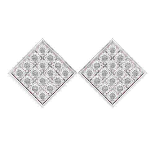 Rosec Jewels-1.6 CT topacio blanco tachuelas, pendientes de cúmulo cuadrado, pendientes de orotornillo hacia atrás
