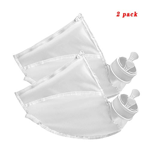For Sale! WSN All Purpose Pool Cleaner Bags, Nylon Zippered Pouch Replacement for Pool Cleaner Parts...