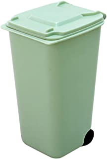 Ktyssp Mini Plastic Trash Can Storage Bin Desktop Organizer Pen Pencil Holder Mini Trash Bin
