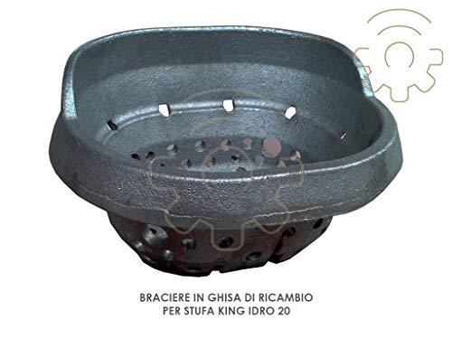 Vuurkorf voor pelletkachel King Idro 20 afmetingen 14 x 17 x 10 cm