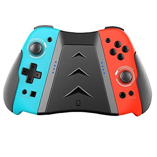Tuimiyisou Controlador cojín de la alegría inalámbrica Compatible con el Controlador de conmutador de Cambio de Gamepad con el botón de Agarre Azul Rojo Rendimiento confiable