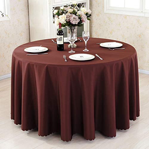 DJUX Pure Color Plain Weave Tablecloth Round Conference Table Table Cover Table Skirt Table Skirt Hotel Restaurant Table Cloth 180cm