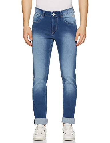 Flying Machine Men's Tapered Fit Slim Jeans (FMJNO0508_32_Blue