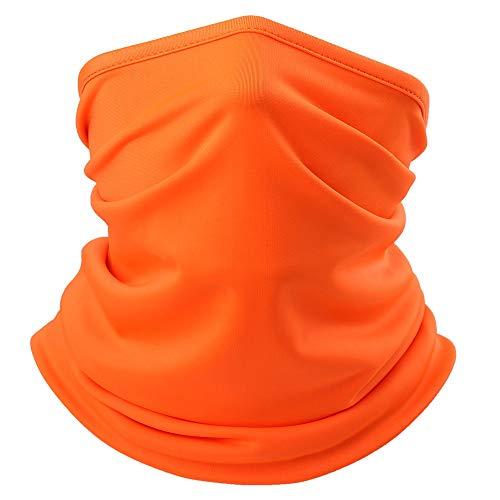 YYZC Outdoor-Sport Bandana Schlauch Angeln Radfahren Laufen Wandern Jagd Biker Hals Gamasche Warmer Maske Stirnband Schal Face Shield-Abdeckung (Color : Orange)