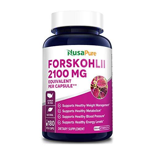 Pure Forskolin 2100mg Per Veggie Caps - 180 Capsules (Non-GMO & Gluten Free)