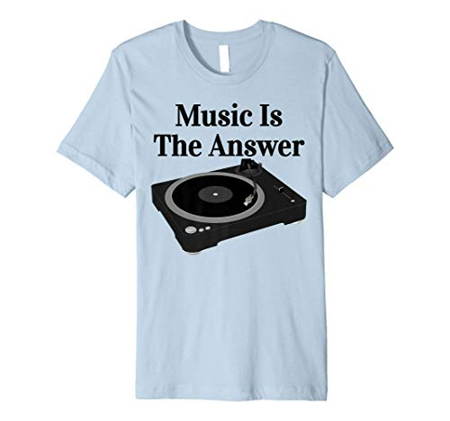 Record Player Turntable DJ Shirt Vinyl Junkie Record 12'