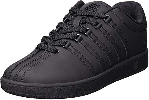 K-Swiss Classic Vintage GS Tennis Shoe (Big Kid),Black/Black,4.5 M US Big Kid
