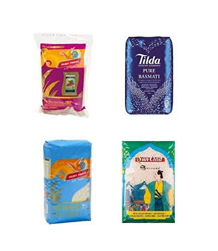 Pamai Pai® Reis Probierpaket: 4 x 1kg verschiedene Reissorten Basmati- Risotto- Duft- und Klebreis