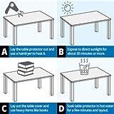 uyoyous Tischdecke Tischfolie Schutzfolie Tischschutz PVC Folie TransparentTischschutzfolie, 90 x190 cm, 2mm dick, Tischdecken Wasserdicht für Garten/Esszimmer/Büro - 10