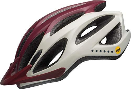 BELL Coast MIPS Casco de Bicicleta, Unisex Adulto, Virago M Maroon/Plata/Arena, Talla...