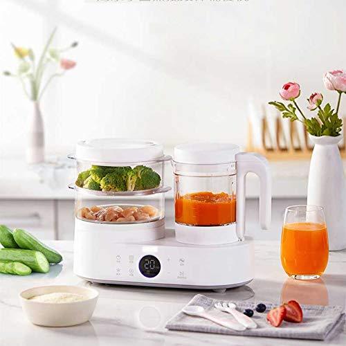 ZJXYYYzj Robot de Cocina for bebés,Molinillo Steamer Self Limpia y el Reloj de Control de Apagado automático for el Hecho en casa Sano for bebés (Blanco)