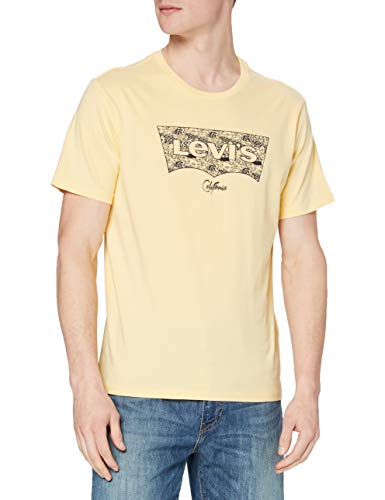 Levi's Housemark Graphic tee Camiseta, Orange (Ssnl Hm Fish Fill Golden Haze), Medium para Hombre