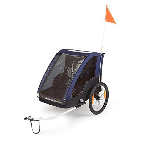 P4B - Remolque de bicicleta para 2 niños Remolque de bicicleta infantil 2 en 1 hasta 41 kg, para ciclismo y correr, cochecito para niños de hasta 1,05 m