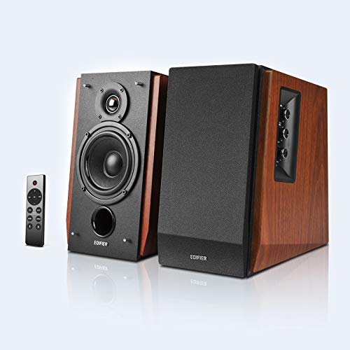 Edifier R1700BTs Active Bookshelf Speakers - Bluetooth v5.0, 2.0 Wireless Near Field Studio Monitor Speaker - 66w RMS with Subwoofer Line Out - Wooden Enclosure