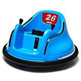 Kids Ride on Bumper Car Upgraded 12V Double Battery Baby Electric Cars for Kids with Flash Lights Music Player and 360 Spine Wheels