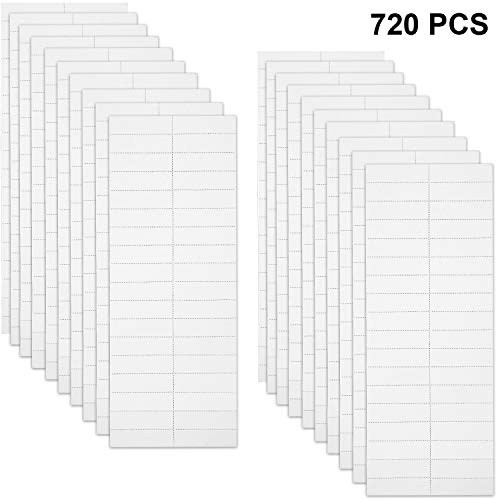 720 Pieces Blank Labels Inserts Hanging File Insert Paper Tab Inserts, 2 Inch