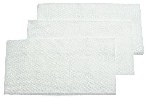 5000 Stück HUCHTEMEIER PapierServietten, 33 x 33 cm, 1-lagig, weiß, 1/8 Kopffalz Snackservietten für Imbiss, Gastronomie, Hotel, Events.