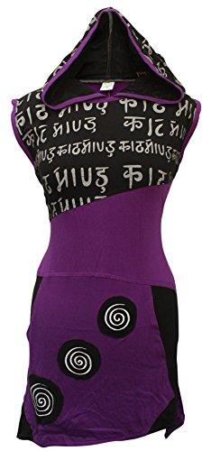 SHOPOHOLIC Fashion - Vestido de estilo hippie asimétrico con espiral, con espiral