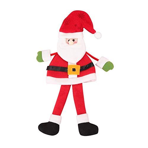 N-K Funda para botella de vino tinto o champán, decoración de Navidad, Papá Noel, para cenas en casa, muy práctica y popular, diseño práctico y duradero