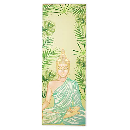 Lightly Toasted Buddha Yoga Mat - All-Purpose Thick Non Slip Exercise Mat Best for Yoga, Pilates, Floor Exercises, Abs Core Workout and Stretching
