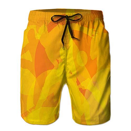 Xunulyn Pantalones Cortos de Rendimiento Pantalones Cortos Casuales para Hombres olimpiada de Fondo Deportivo