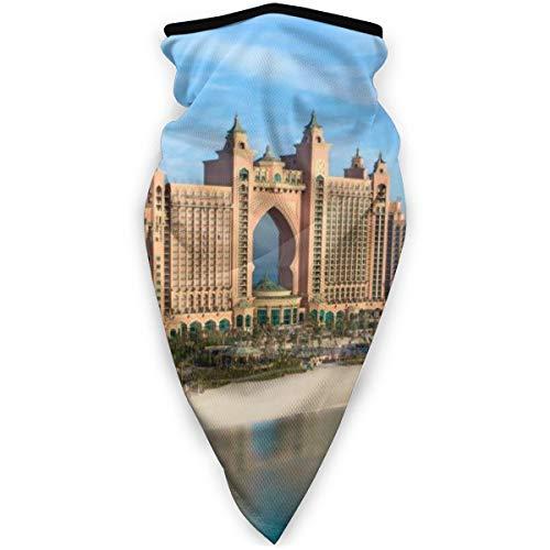 BJAMAJ Beau Dubaï Atlantis City Extérieur Visage Bouche Masque Coupe-Vent Sports Masque Masque de Ski Bouclier Écharpe Bandana Hommes Femme