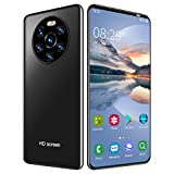Fingerprint Unlock Face Recognition Phone, LANDVO Mate40 Pro Smart Phone, for Android 6.0 1GB+8GB 128GB Expandable Storage for Gift Man(Black)