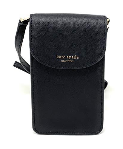 Kate Spade New York Cameron North South Flap Phone Crossbody, Black