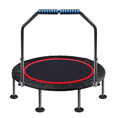HFFSGS Mini trampolín para niños Adultos, Fitness Plegables rebaunder niños trampolín con 5 Niveles con reposabrazos Ajustables, Tejido Oxford Engrosado, cojinete de Carga 441lbs