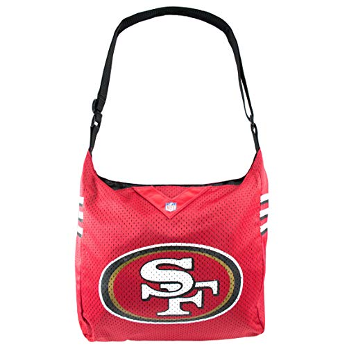 """Littlearth womens NFL San Francisco 49ers Jersey Tote , 15"""" H x 14"""" W x 4"""" D"""