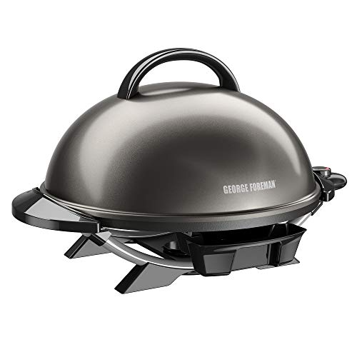 George Foreman 240 Nonstick Removable Stand Indoor/Outdoor Electric Grill