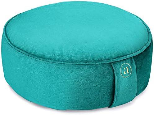 Buckwheat Meditation Cushion Round Zafu Yoga Pillow Zafu Meditation Cushion Velvet with Zippered product image