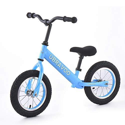 UBRAVOO キッズバイク 子供 幼児用 ペダル無し自転車 ゴムタイヤ ハンドル サドル高さ調整可 1歳半〜5歳 軽量 組み立て簡単 誕生日 お正月 クリスマス プレゼント