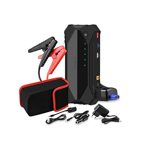 Z&LEI Starter de Salto de automóvil, Banco de energía 1500A Auto Booster Auto 12V Dispositivo de Inicio Portátil Emergencia Inicio de la batería Gas